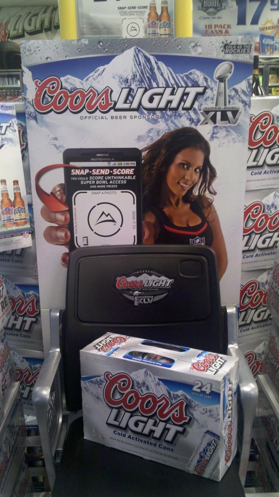 Coors Light Instore Display
