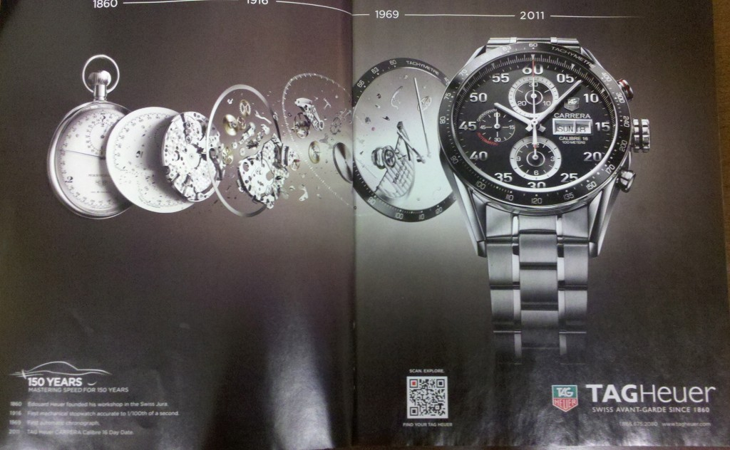 Tag Heuer QR code ad