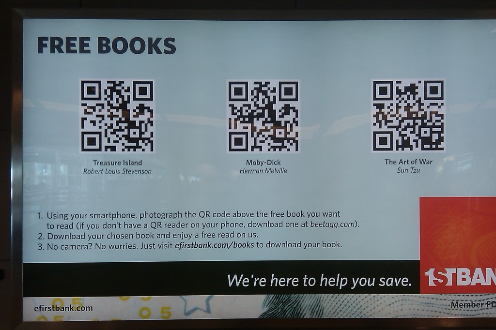 QR Code at the Denver Airport