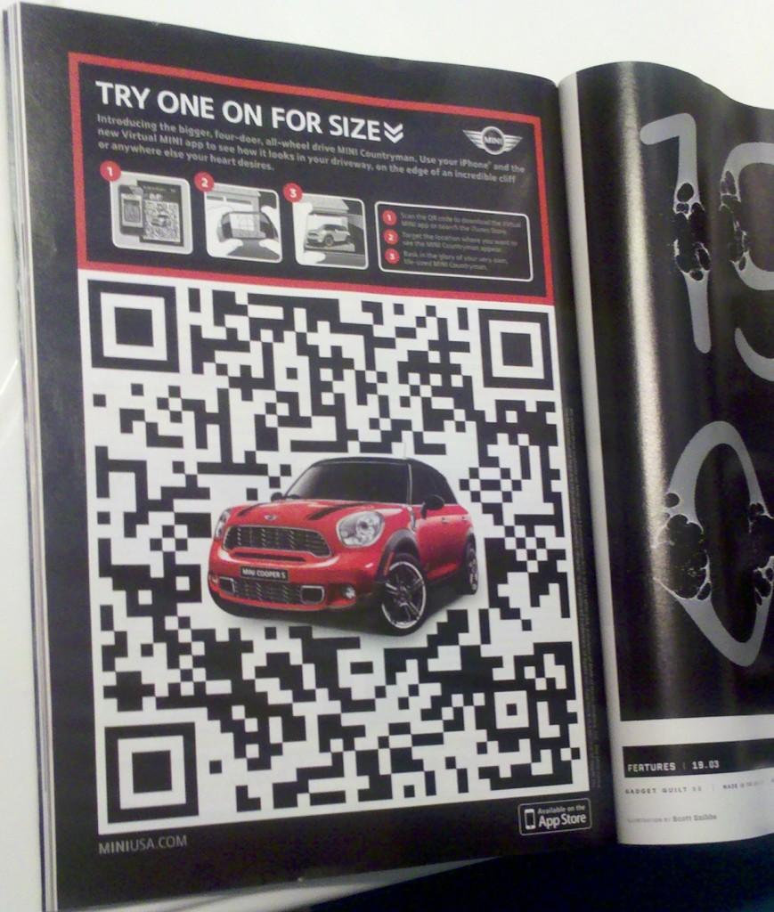 Mini QR Code Magazine Ad