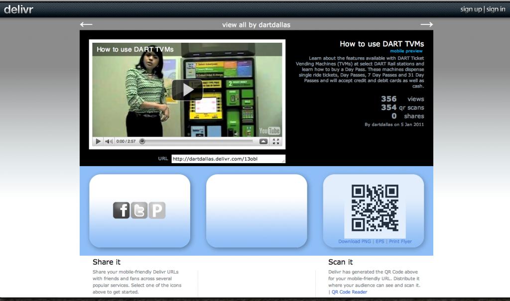 DART QR website