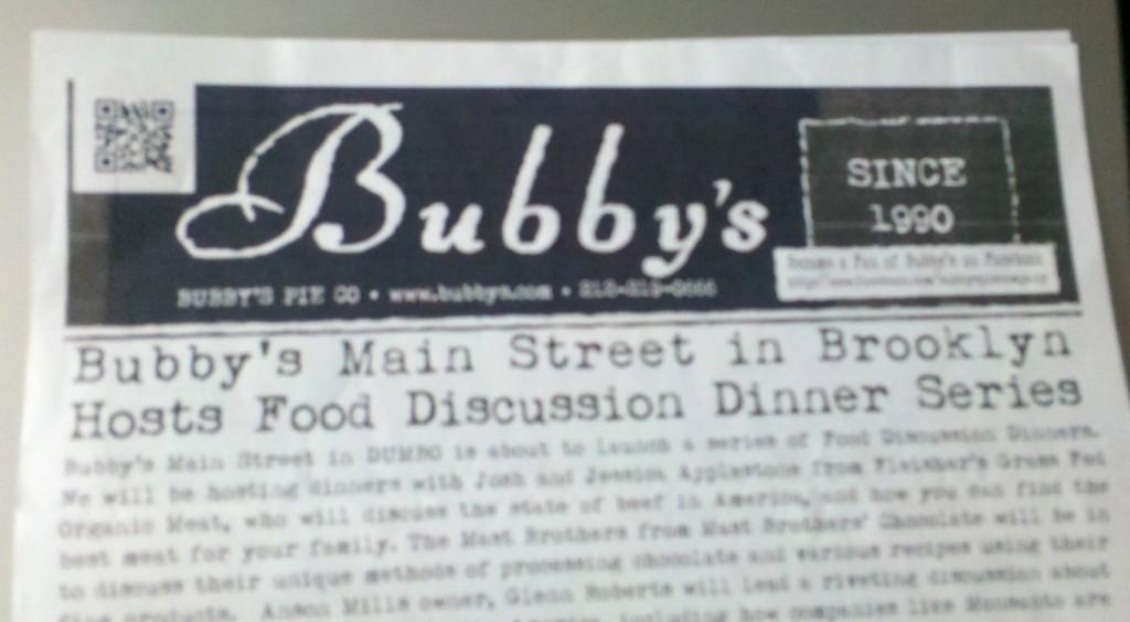 Bubby's QR Code