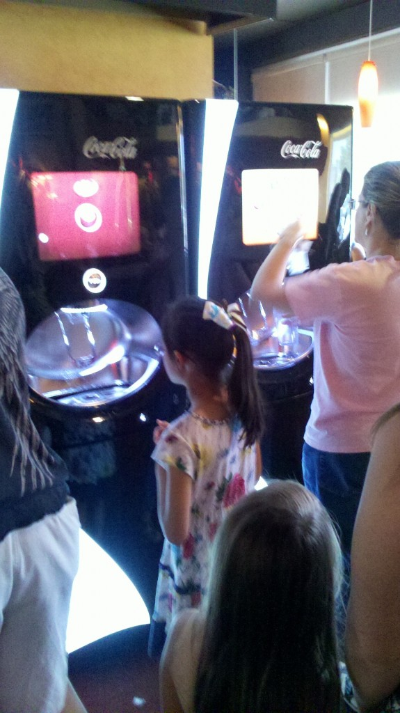 Coke's touch screen fountain