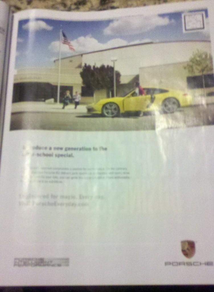 Porsche Microsoft Tag ad