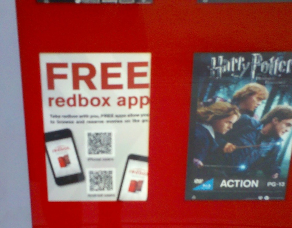 Redbox Interactive Out-of-Home Kiosk QR Code