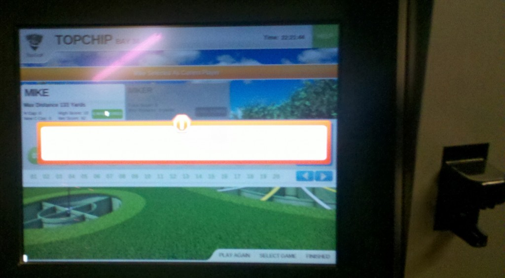 Top Golf scorecard