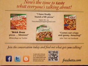 Pizza box with QR code